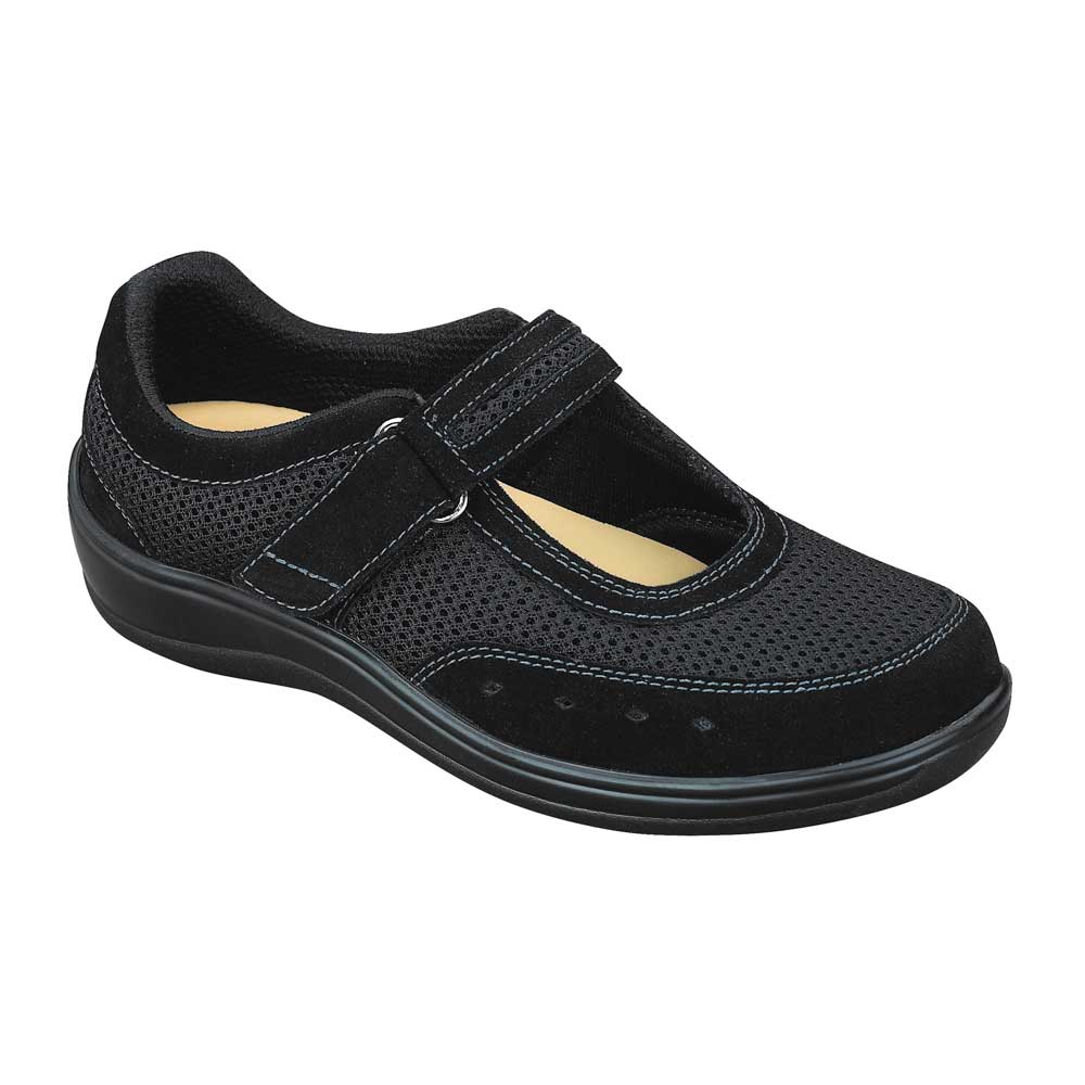 Orthofeet Chattanoga Black Shoe