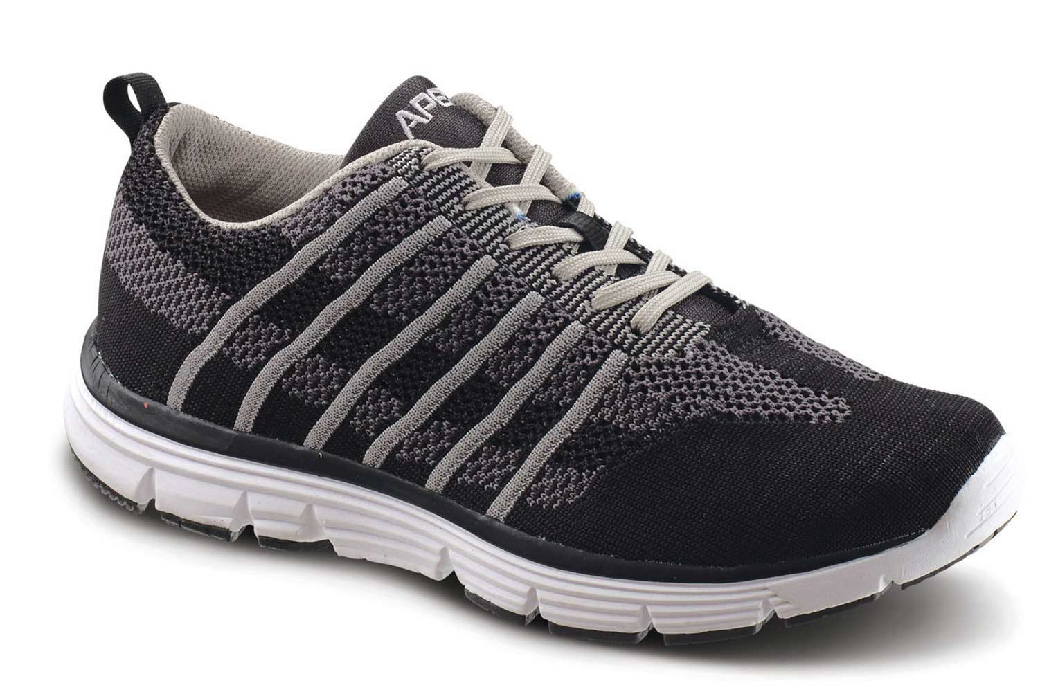 Apex Shoes Athletic Knit Lace Up A7000M - Men's Comfort Therapeutic Athletic Shoe - Medium (C) - Extra Wide (4E) - Extra Depth for Orthotics