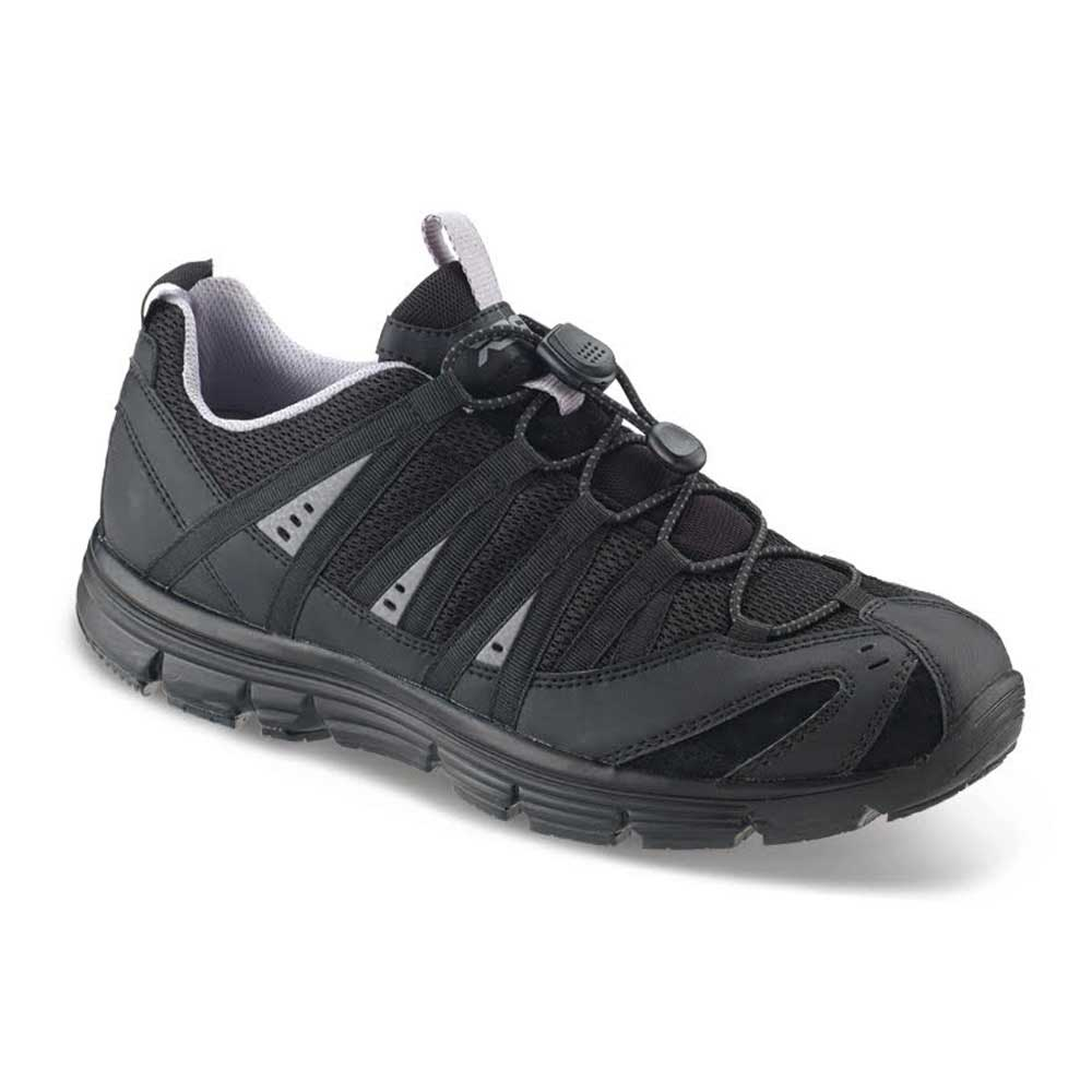 Black Wide Width Athletic Shoes