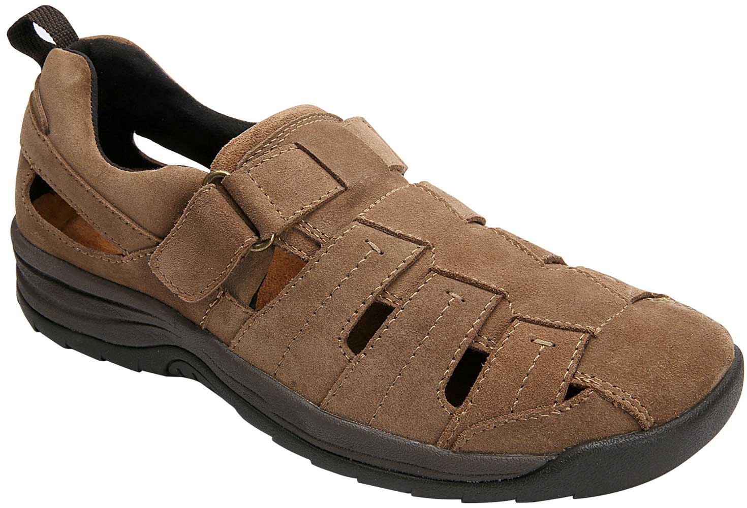 Drew Shoes Dublin 47717 - Men's Comfort Therapeutic Shoe with Removable Inserts - Sandals - Medium (D) - Extra Wide (6E) - Extra Depth for Orthotics