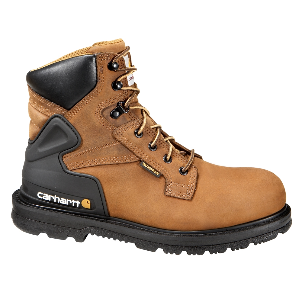 Carhartt CMW6220 Men's Steel Toe - Waterproof - Work Boot - Oil, Chemical, Slip Resistant - EH Rated - Medium (D) - Wide (2E)