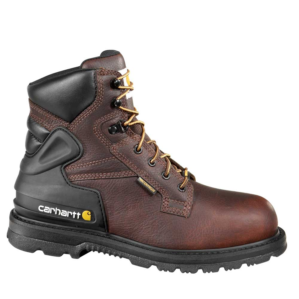 Carhartt CMW6239 Men's Steel Toe - Waterproof - Work Boot - Oil, Chemical, Slip Resistant - EH Rated - Medium (D) - Wide (2E)