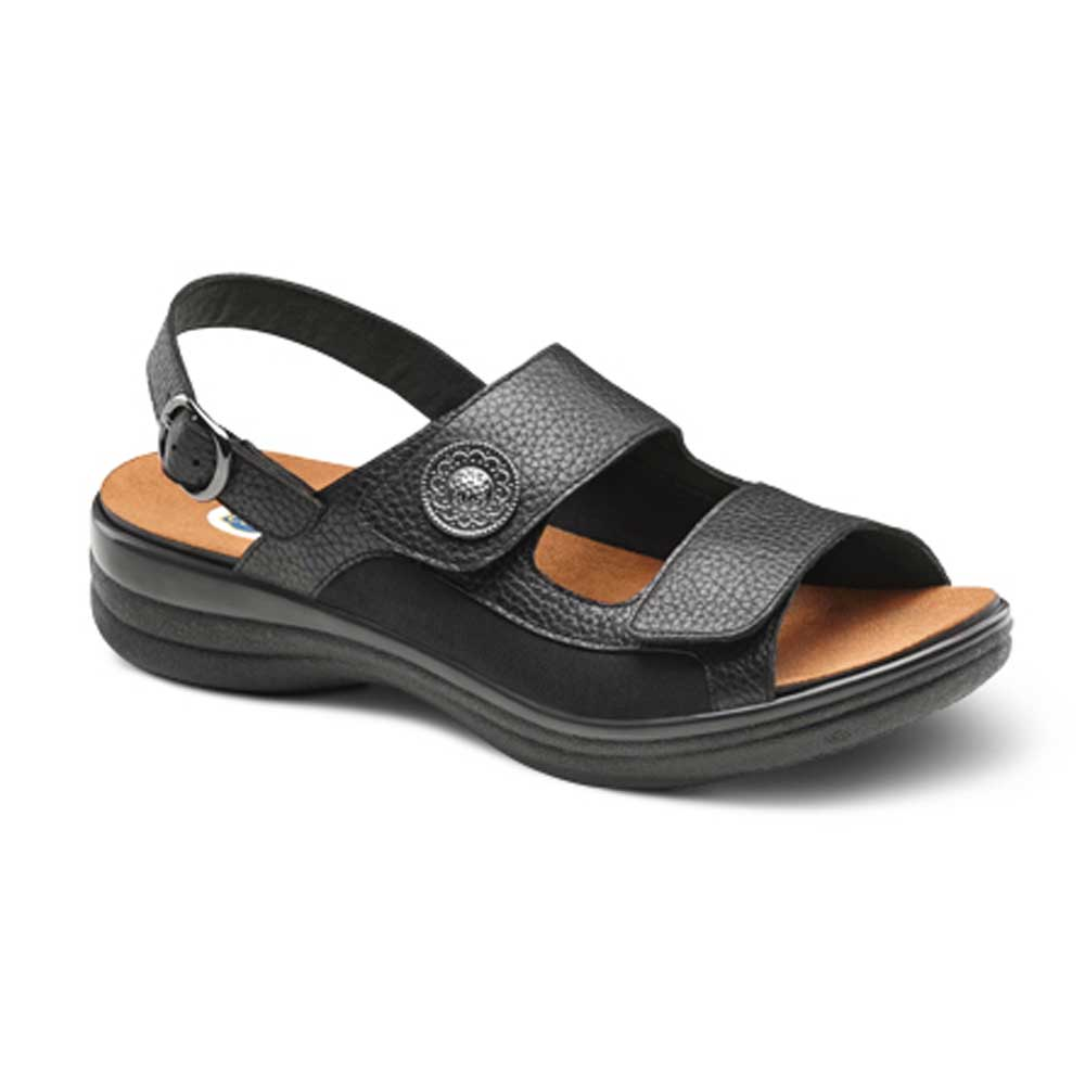 Dr. Comfort Shoes Lana - Women's Sandal - Open Comfort Collection with Removable Footbeds for Orthotics - Medium (B) - Extra Wide (D) - Extra Depth