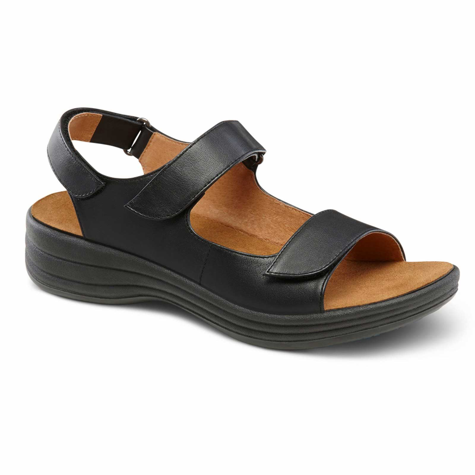 Dr. Comfort Shoes Liz - Women's Sandal - Open Comfort Collection with Removable Footbeds for Orthotics - Medium (B) - Extra Wide (D) - Extra Depth