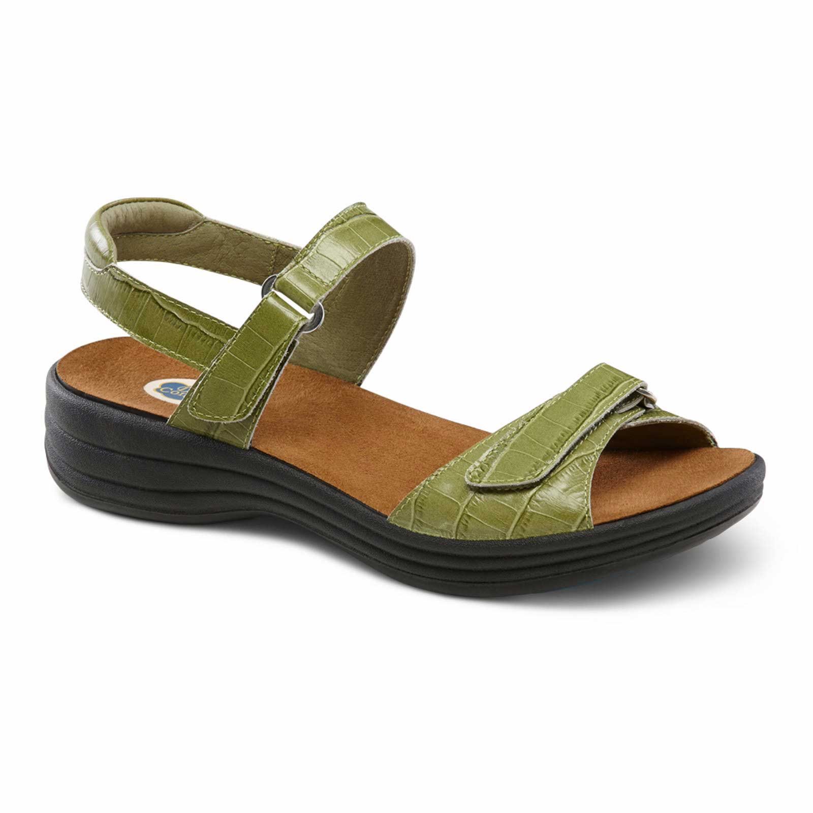 Dr. Comfort Shoes Rachel - Women's Sandal - Open Comfort Collection with Removable Footbeds for Orthotics - Medium (B) - Extra Wide (D) - Extra Depth