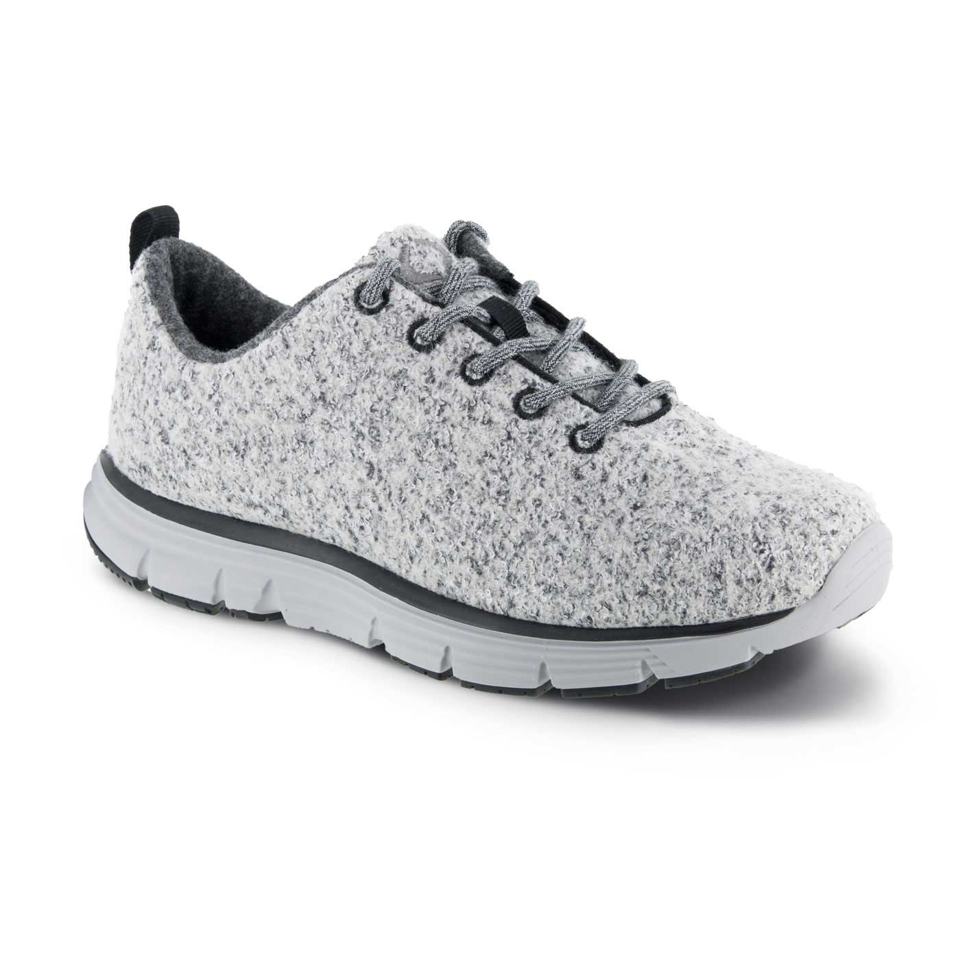 Apex Shoes Athletic Grey Wool Lace Up A8000M