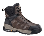Carhartt - CMA6046 - Men's FORCE Brown Leather Waterproof Soft Toe 6-inch Work Boot - Medium - Wide