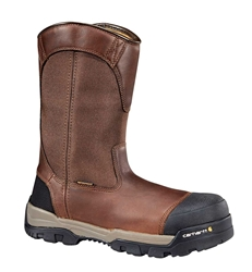 Carhartt Mens Ground Force Brown Leather Work Boot - Peanut/Oil/Leather