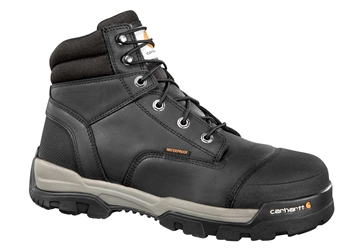 Carhartt Ground Force Mens Black Leather Waterproof Composite Safety Toe 6-inch lace-up Work Boot - Black/Oiled Tanned