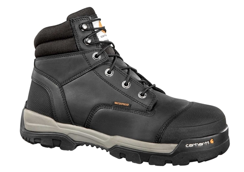 Carhartt Ground Force Men's Black Leather Waterproof Composite Safety Toe 6-inch lace-up Work Boot - Black/Oiled Tanned