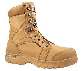Rugged Flex Mens Wheat Leather Waterproof Insulated Soft Toe 8-inch lace-up Work Boot - Wheat/Nubuck