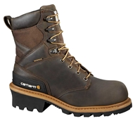 Carhartt Woodworks Men's Brown Leather Waterproof Composite Safety Toe 8-inch Climbing Boot