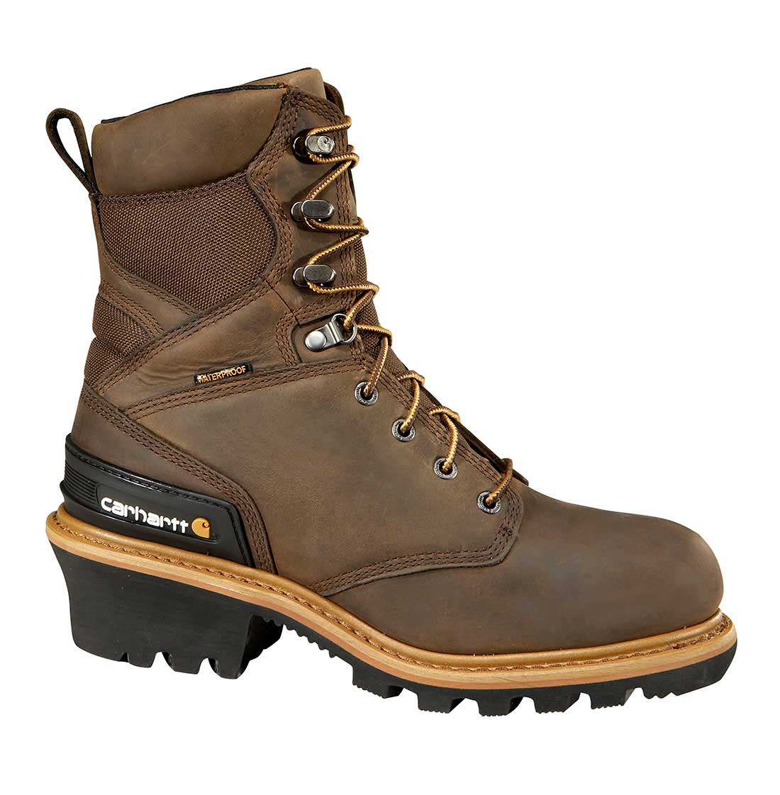 Woodworks Men's Brown Leather Waterproof Insulated Composite Safety Toe 8-inch Climbing Boot