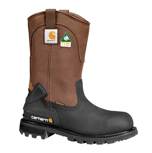 Carhartt Puncture Resistant Men's Brown Leather Waterproof Insulated Steel Safety Toe 11-inch Work Wellington