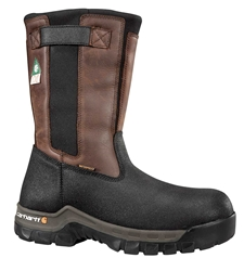 Carhartt Puncture Resistant Mens Blk/Brn Rugged Flex Waterproof Insulated Composite Safety Toe 10-inch Pull-On Work Boot