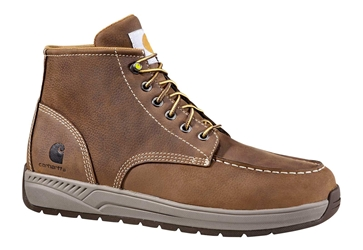 Carhartt Mens Brown Leather Lightweight Wedge NWP Soft Toe 4-inch Casual Boot