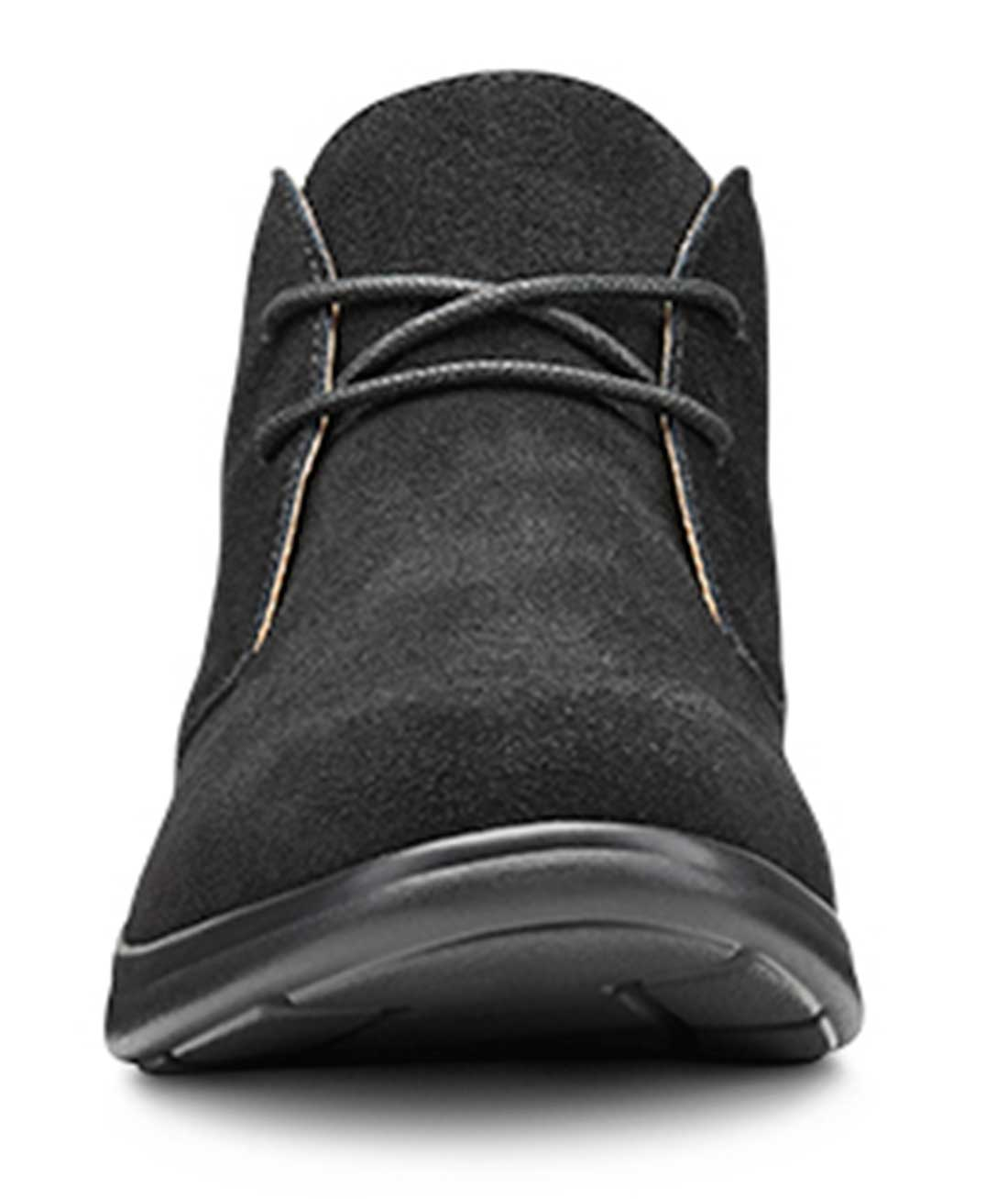 4 Wide Comfort Womens Cara Casual Suede Leather Bootie Chukka Boot Black US Dr C//D