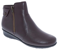 Drew Shoes - Athens - Brown Leather - Boot with Zippers