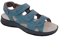 Drew Shoes - Bayou Comfort Sandal - Blue/Microdot