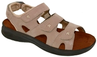 Drew Shoes - Bayou Comfort Sandal - Taupe Microdot