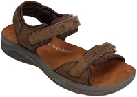 Drew Shoes - Cascade - Brown Nubuck - Comfort Sandal