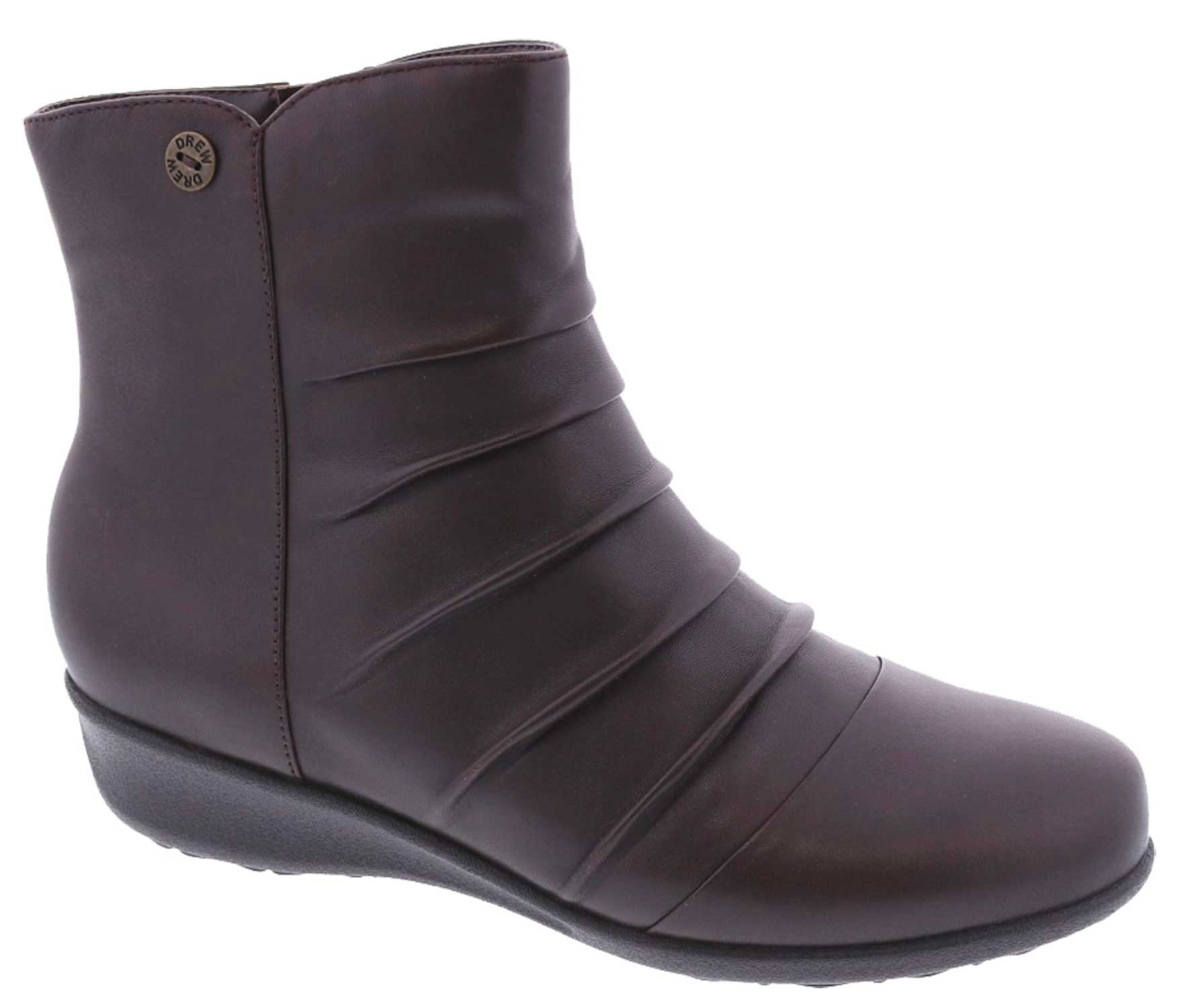 Drew Shoes - Cologne - Brown Leather - Boot with Zipper