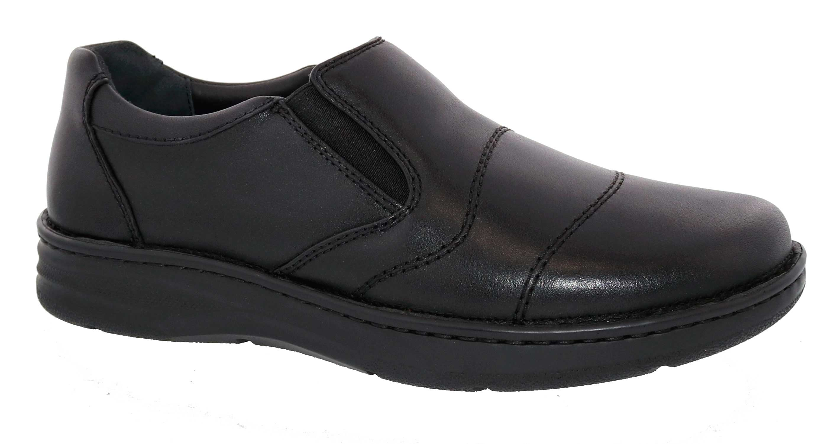 Drew Shoes - Fairfield - Black Leather - Casual Shoe
