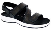 Drew Shoes - Olympia - Black/Pearlized - Comfort Sandal