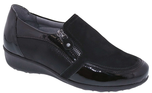 Drew Shoes - Padua - Black Leather - Casual, Dress