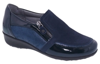 Drew Shoes - Padua - Navy Leather - Casual, Dress