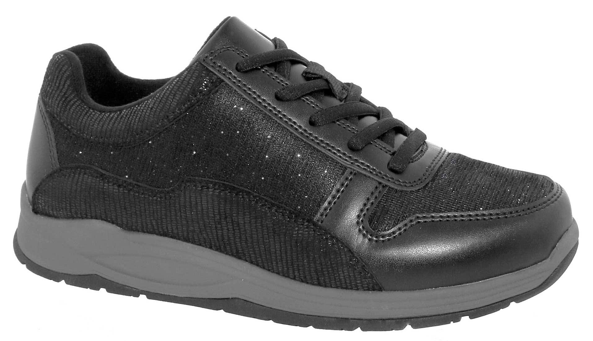 Footsaver Rummy - Black/Leather/Mesh