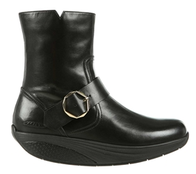 MBT Shoes Womens Magee Dress Boots - Black Nappa