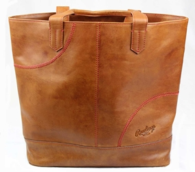 Rawlings - RB60001-204 - Rawlings Vintage Leather Womens Large Tote Bag