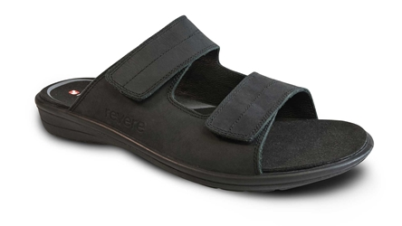 Revere - Durban - Oiled/Black - Mens Sandal