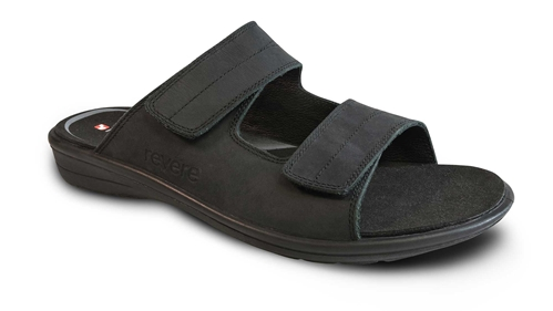 Revere - Durban - Oiled/Black - Men's Sandal