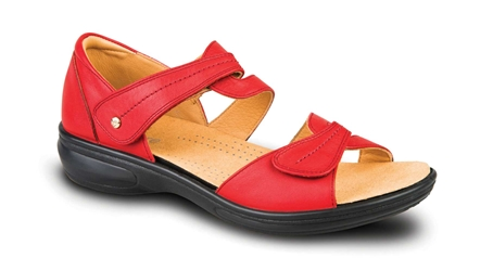 Revere - Geneva - Red - Womens Sandal