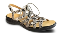 Revere - Malibu - Natural/Snake/Leather - Women's Sandal