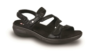Revere - Miami - Black Lizard - Women's Sandal