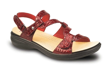Revere - Miami - Red Croc - Womens Sandal