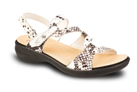 Revere - Miami - White Snake Leather - Women's Sandal