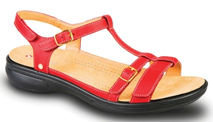 Revere - Milan - Red - Womens Sandal