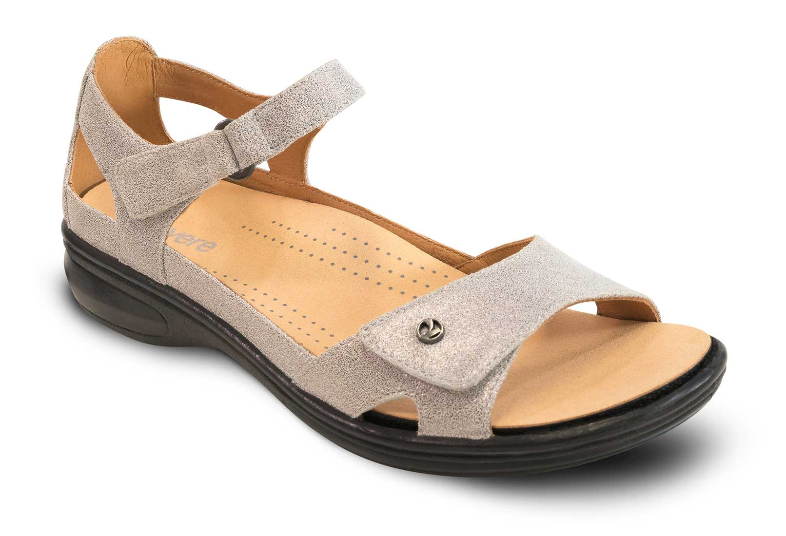 Bay Heeled Sandal with Adjustable Straps   Drew Shoe