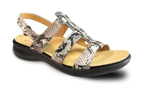 Revere - Toldeo - Natural/Snake/Leather - Women's Sandal