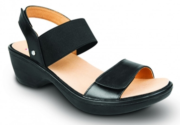 Revere - Valencia - Black - Womens Backstrap Sandal