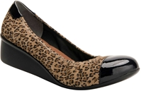 LEOPARD SUEDE/BLACK PATENT LEATHER