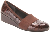 Ros Hommerson - Erica - Brown Croc Patent/Brown Gore