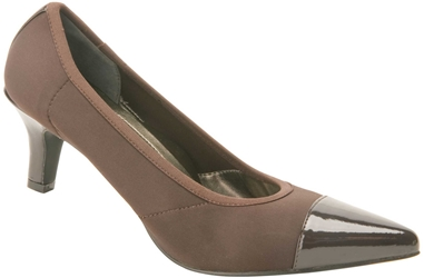 Ros Hommerson Keisha - Dark Brown Stretch / Dark Brown Patent