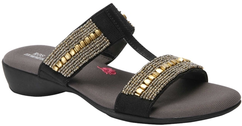 Ros Hommerson Marcy Black/Stretch Sandal