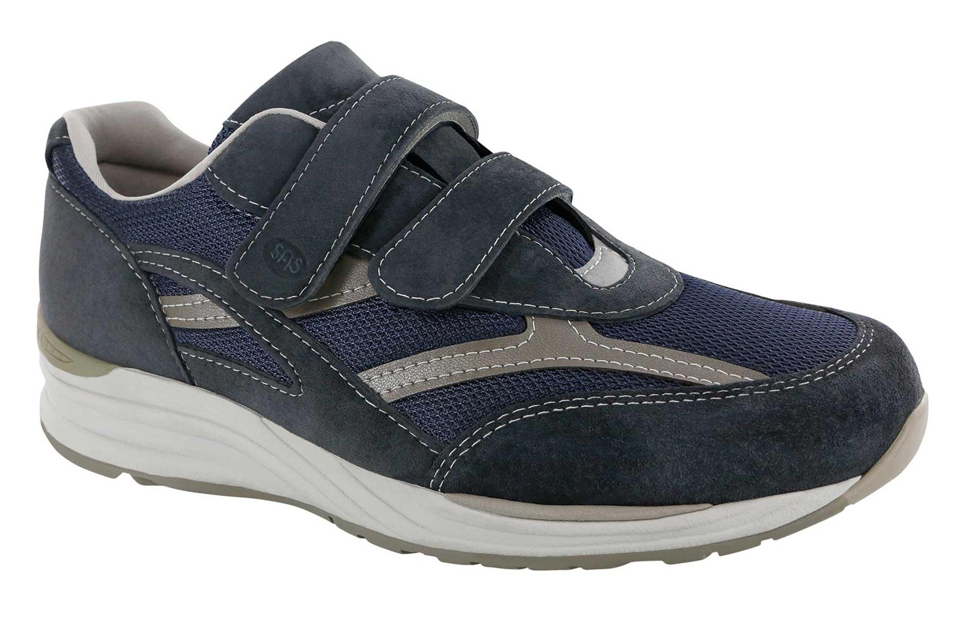 SAS Mens JV Mesh Diabetic Active Shoes Gray