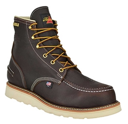 "Mens Thorogood 6"" WP Wedge Sole Work Boot - Briar"